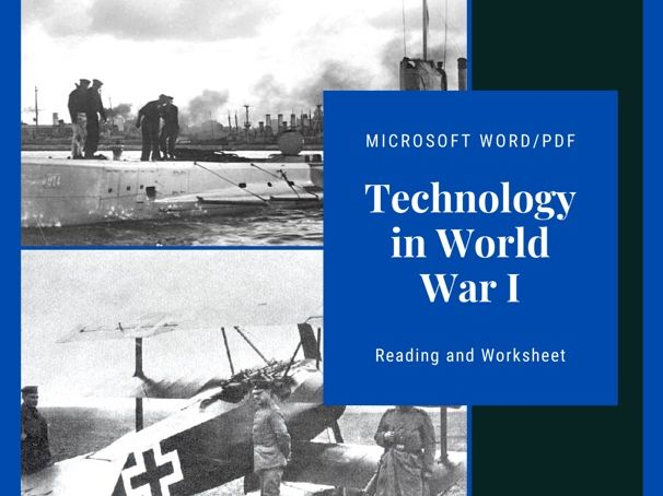 Technology of WWI Reading and Worksheet