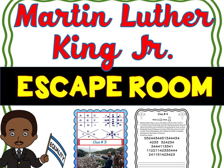 Martin Luther King Escape Room- No Prep!