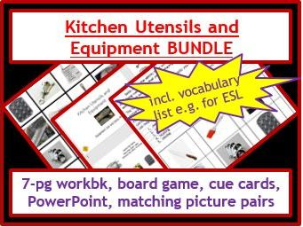 Food Tech: Utensils and Equipment Activities BUNDLE
