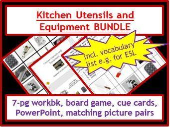Food Tech: Utensils and Equipment Activities BUNDLE