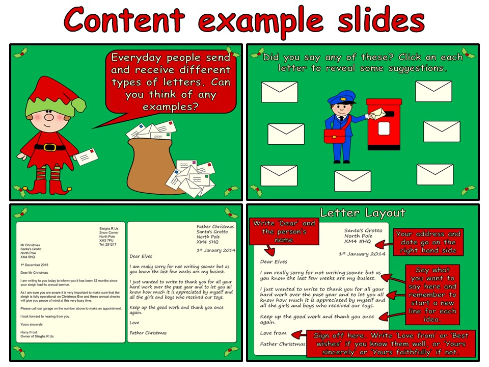 Writing a Letter to Father Christmas (PowerPoint and worksheets)