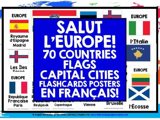 FRENCH CLASSROOM DISPLAY: EUROPE POSTERS IN FRENCH