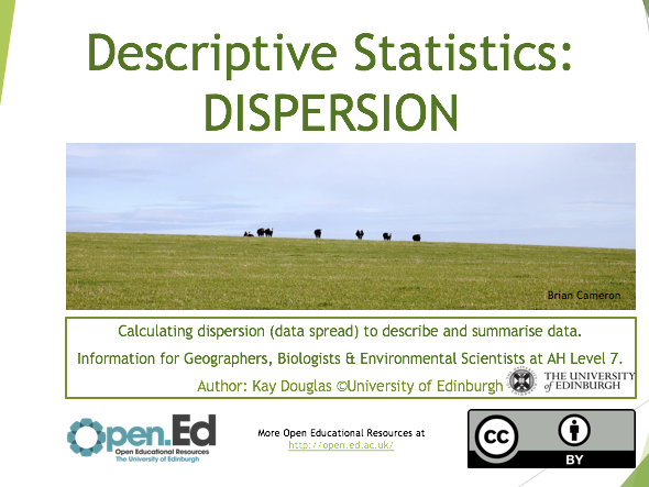 Descriptive Statistics: DISPERSION