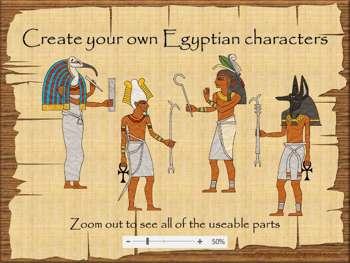 Create your own Ancient Egyptians - gods and goddesses - Digital drag and drop (printable) - Topic