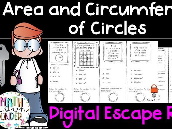 Area and Circumference of Circles - Digital Escape Room Using Google Forms!