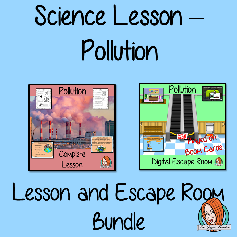 Pollution Science Lesson and Escape Room Bundle