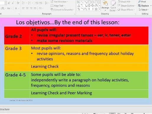 Edexcel GCSE Viva Mod 1.1 Como prefieres pasar las vacaciones - 2 lesson bundle