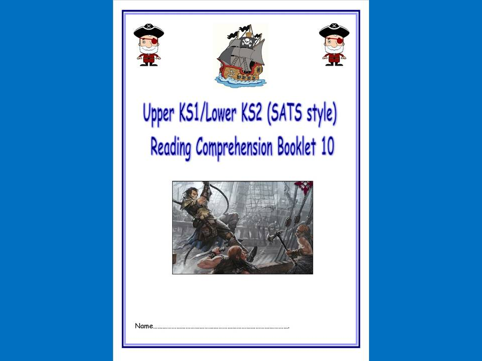 KS1/LKS2 SATs style reading comprehension booklet based on Pirates.