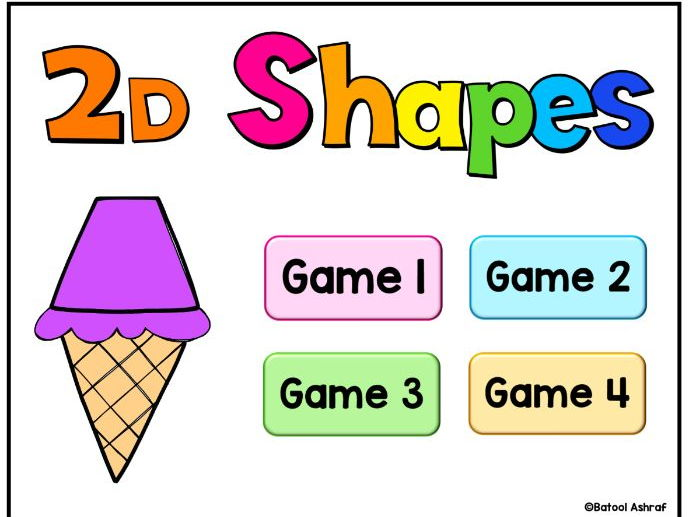 2D Shapes PowerPoint Digital Games