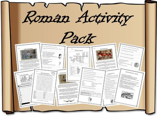 Roman Activity Pack – reading comprehensions, wordsearch, crossword, quiz, worksheet