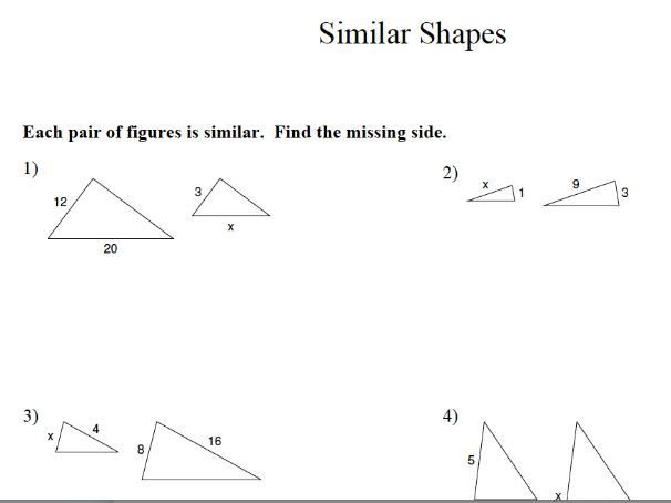 GCSE Maths Similar Shapes & Congruency