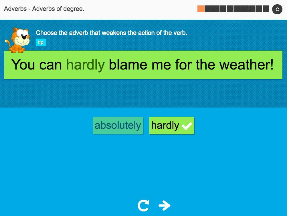Adverbs of degree - Interactive Activity - KS3 Spag