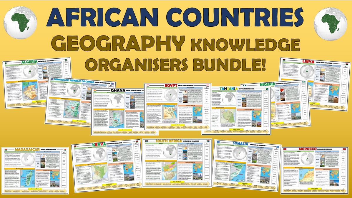 African Countries Knowledge Organisers Bundle!