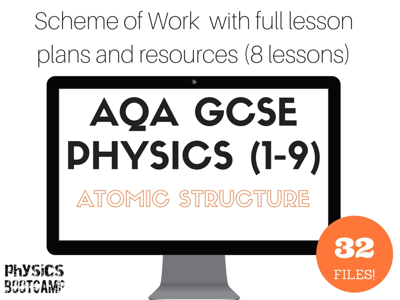 AQA GCSE Physics (1-9) ATOMIC STRUCTURE Scheme of Work (full lesson plans and resources)