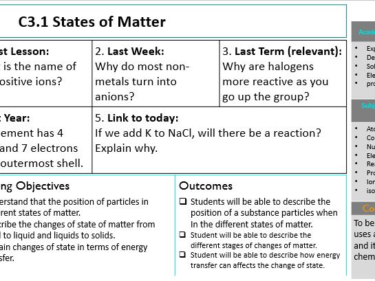 KS3 States of Matter