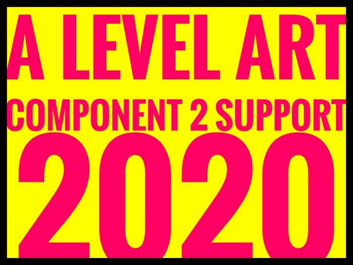 AQA A Level Art Exam 2020 Component 2 Support