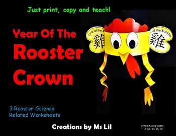 Chinese New Year 2017  Crown. ::  Year of the Roooster 3D Hat