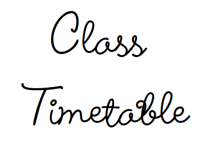 Individual or class timetable SEN