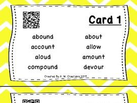 Highlight the Sounds QR Code Task Cards Sets 1 to 3