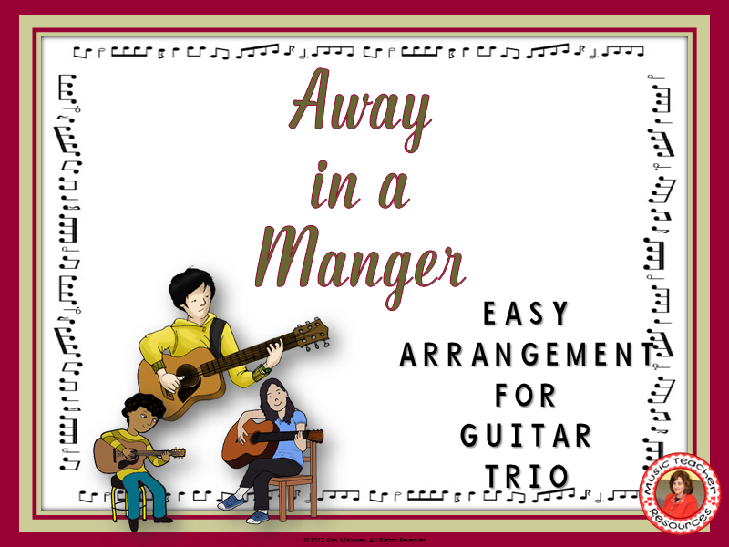 Away in a Manger: Easy Guitar Trio