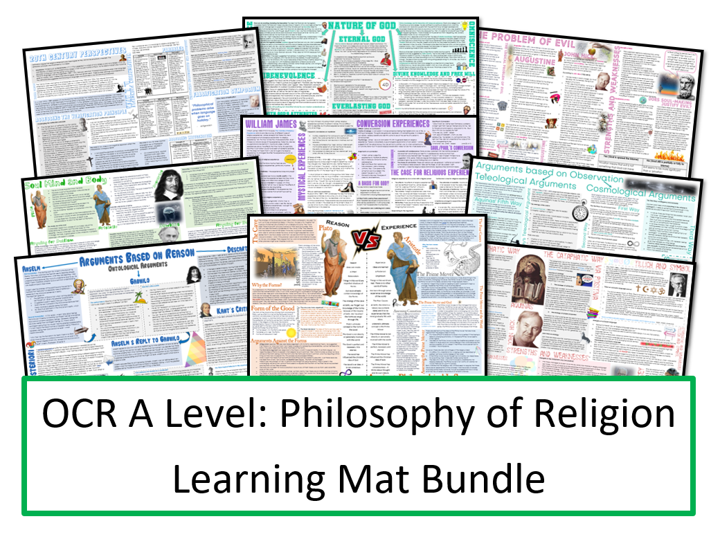 OCR A Level: Philosophy of Religion Learning Mats