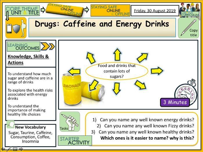 Energy Drinks - Sugar + Caffeine