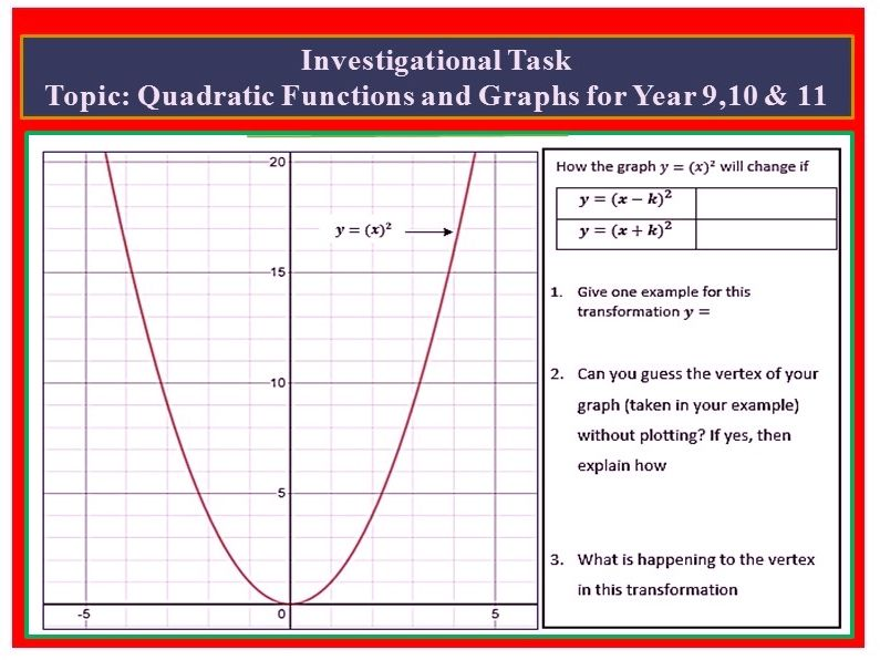 Quadratic Graph Investigations