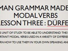 German modal verbs. Complete short lessons. dürfen