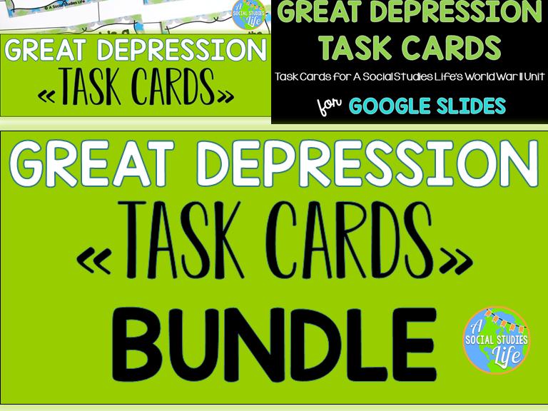Great Depression Task Cards BUNDLE