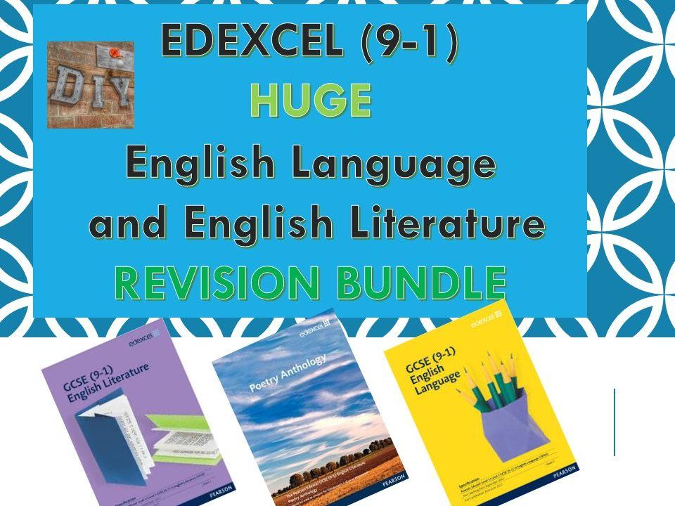 Edexcel HUGE Revision Bundle English Language and Literature
