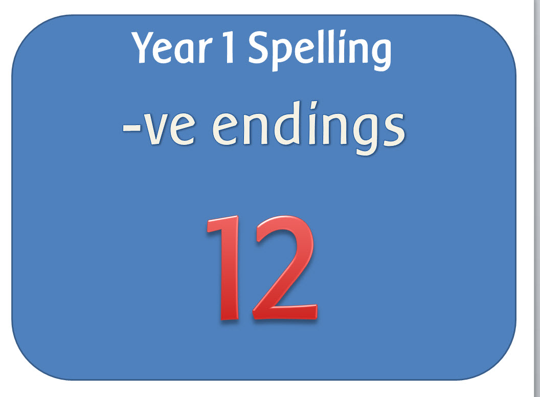 10 days of riddle work y1 adapted from hamilton by barnaclebrain spag year 1 spelling pack words ending ve robcynllc Image collections