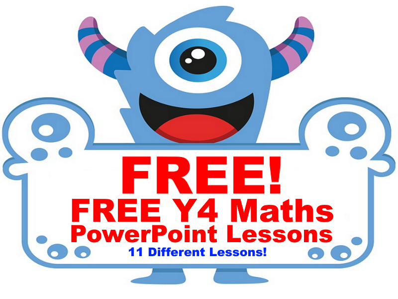 FREE Maths PowerPoint Lessons for Year 4 students for Spring & Summer Term (SpringBoard 4 Material)