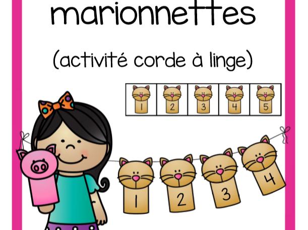 Ordonne 1 à 10 (marionnettes)