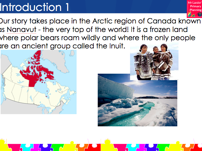 Y3/4 Adventure Story Writing Assessment Piece Lesson (Arctic/Canada theme)