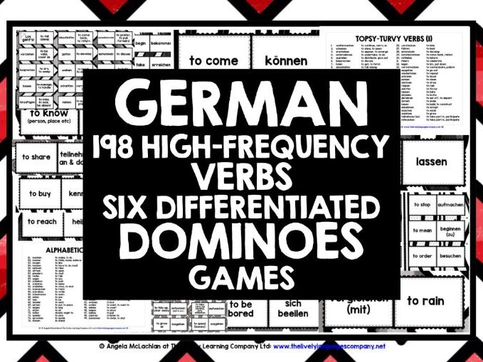 GERMAN VERBS DOMINOES