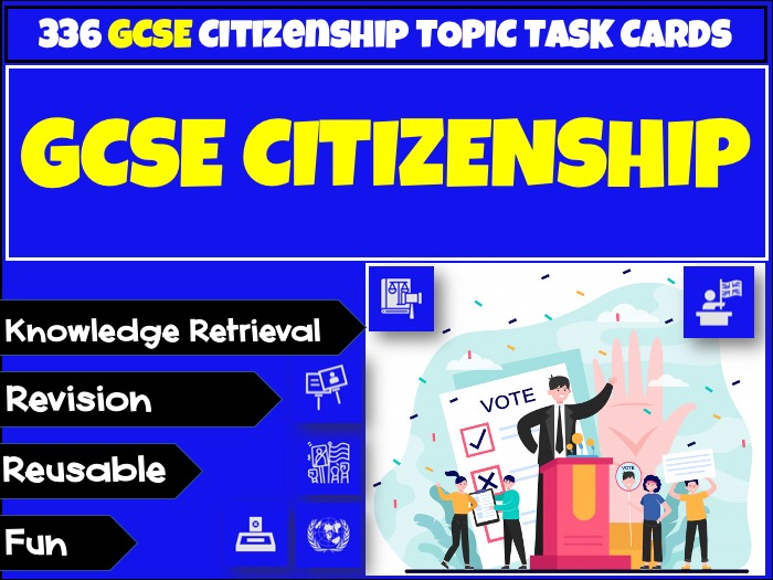 GCSE Citizenship - 336 Revision Topic Cards