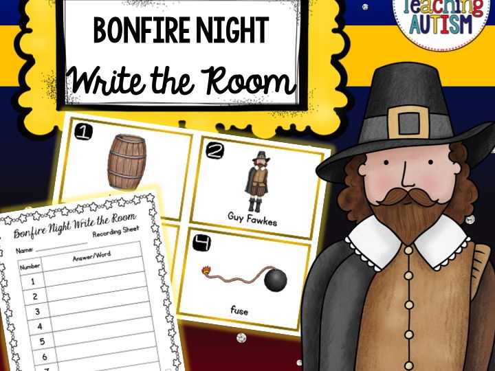 Guy Fawkes Write the Room, Bonfire Night