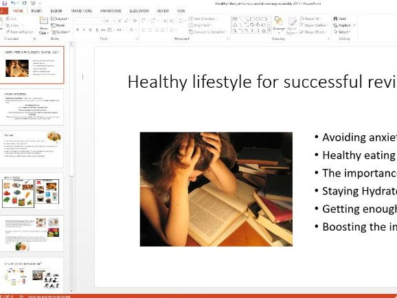 Revision - Keeping a healthy lifestyle assembly 2017