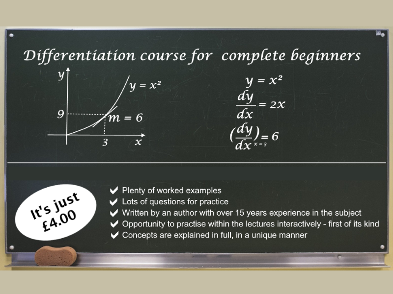 Differentiation for Beginners: for  A Level and High School Students