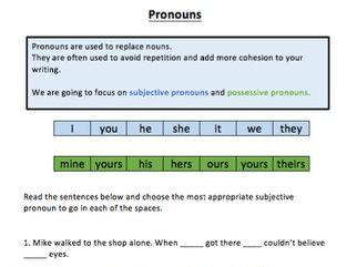 Grammar: Pronouns (KS1 and KS2)