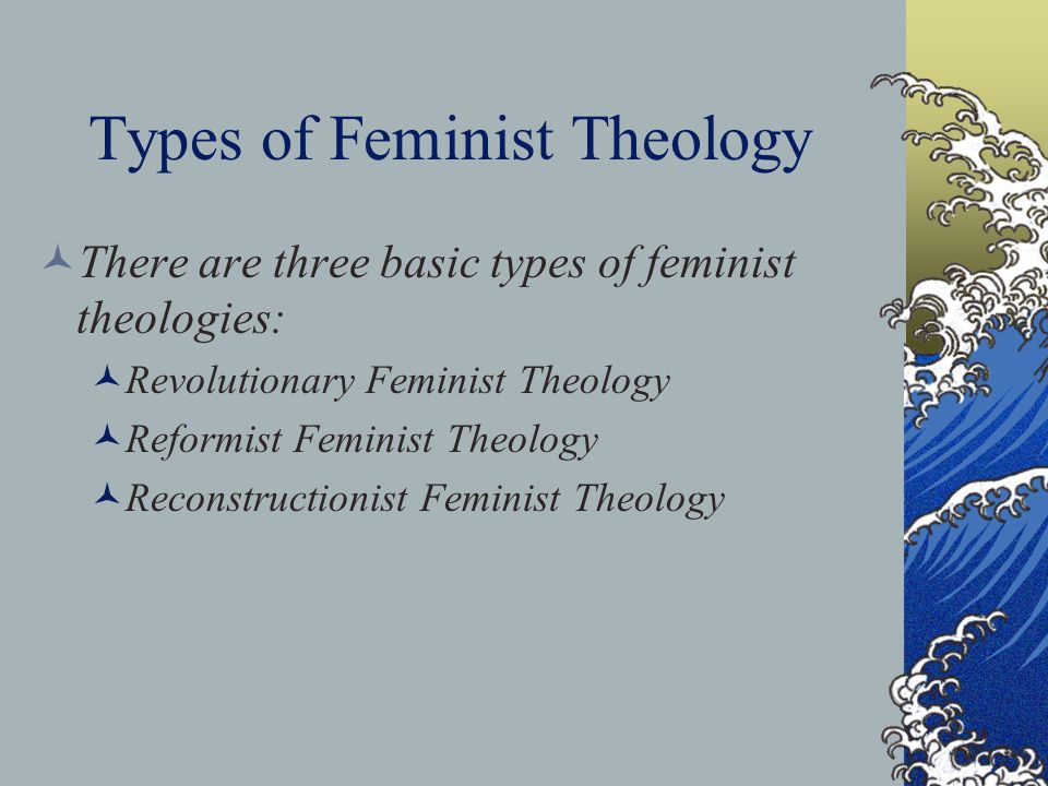 Eduqas Feminist Theology; could be altered for OCR as well