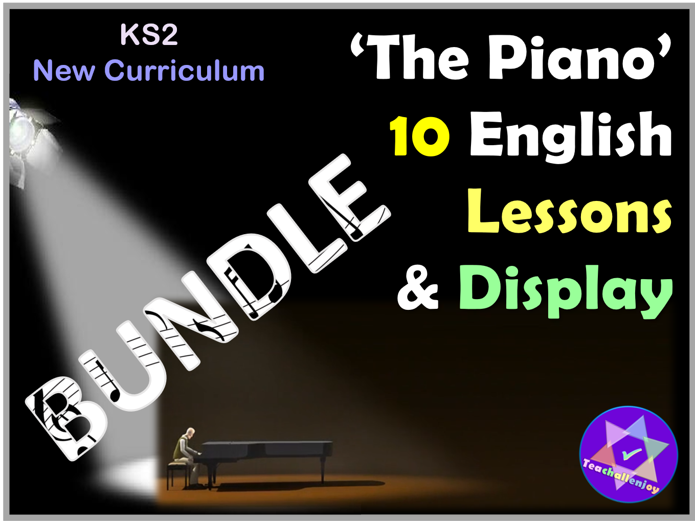 'The Piano' 2 Weeks English Lessons Plans Resources Display