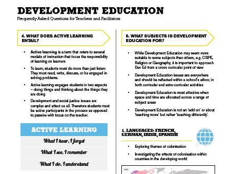 Development Education - A Guide for Teachers and Facilitators