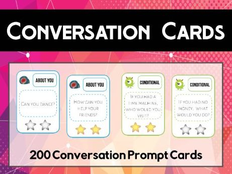 200 English Conversation Prompt Cards