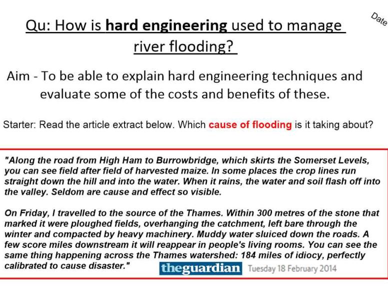 Flooding - Hard Engineering