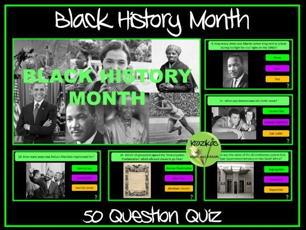 Black History Month Quiz