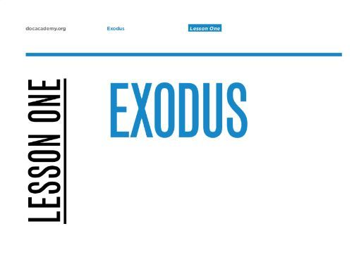 "Exodus English KS3-5 Lesson #1 ""Exodus"""