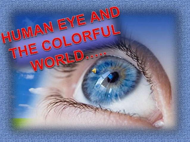 light and human eye--- power point presentation