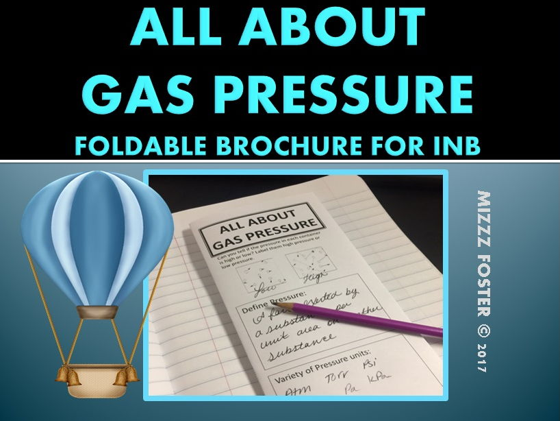 Gas Pressure Conversion Foldable Brochure for Interactive Notebook (Gas Laws)