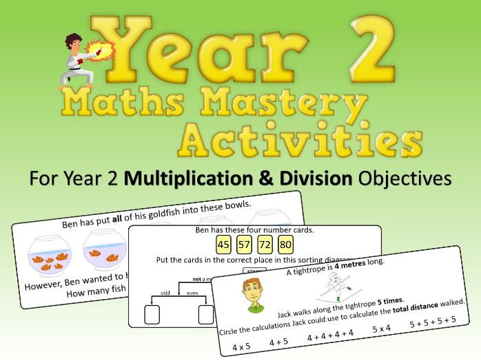 Multiplication and Division Mastery Activities – Year 2